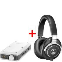 Audio-Technica ATH-M70X+Denon DA-10 fejhallgató erősítő