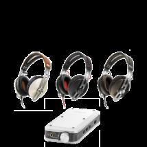 Sennheiser MOMENTUM G Fekete+Denon DA-10 fejhallgató erősítő