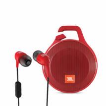 JBL Clip+ vízálló bluetooth hangszóró, piros + ajándék JBL T100 fülhallgató