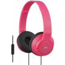 JVC HA-SR185R COLOURFUL LIGHTWEIGHT mikrofonos fejhallgató rózsaszín