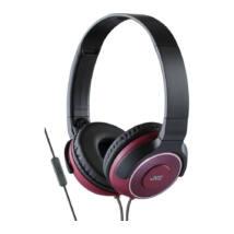 JVC HA-SR225R Premium Sound mikrofonos fejhallgató piros