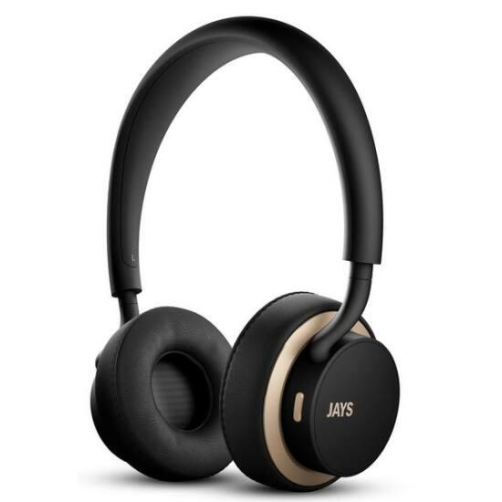 JAYS u-Jays  bluetoothos fejhallgató fekete arany