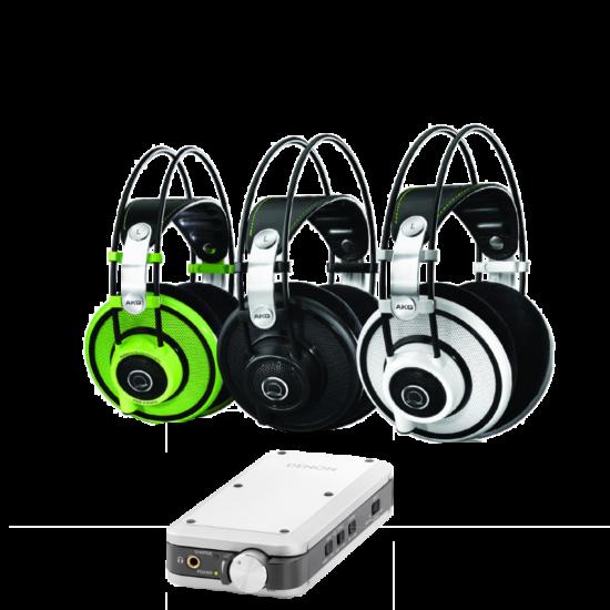 AKG  Q701 Fekete fejhallgató+Denon DA-10 fejhallgató erősítő