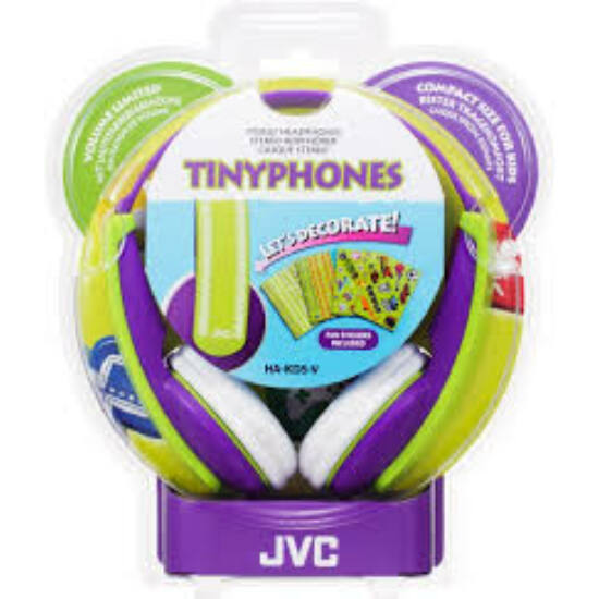 JVC HA-KD5-V KIDS fejhallgató, zöld-lila