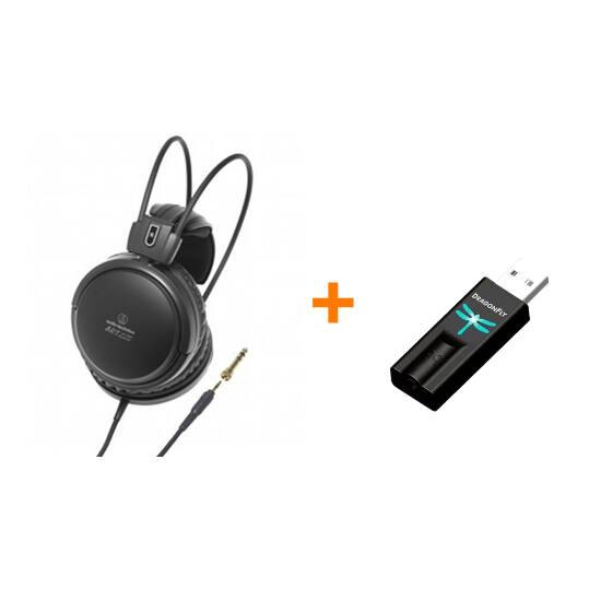 Audio-Technica ATH-A500X + DragonFly USB fejhallgató erősítő