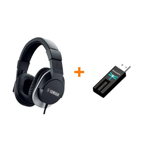 Yamaha HPH-MT220 fejhallgató + Dragonfly USB fejhallgató erősítő