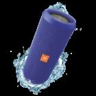 JBL Flip 3 vízálló bluetooth hangszóró, kék (Bemutató darab)