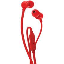 JBL T110 fülhallgató, piros