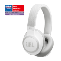 JBL Live 650BTNC zajszűrős Bluetooth fejhallgató, fehér (Bemutató darab)