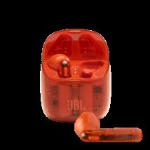 JBL TUNE 225TWS Ghost Edition fülhallgató, átlátszó-narancs