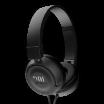 JBL T450 fejhallgató, fekete (Bemutató darab)