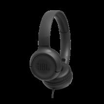 JBL T500 fejhallgató, fekete