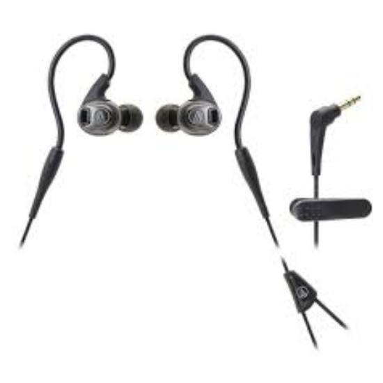 Audio-technica ATH-SPORT3BK sport füllhallgató, fekete