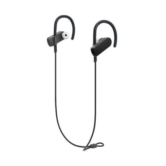 Audio-technica ATH-SPORT50BT Vezeték nélküli Sport Fülhallgató, fekete (Bemutató darab)