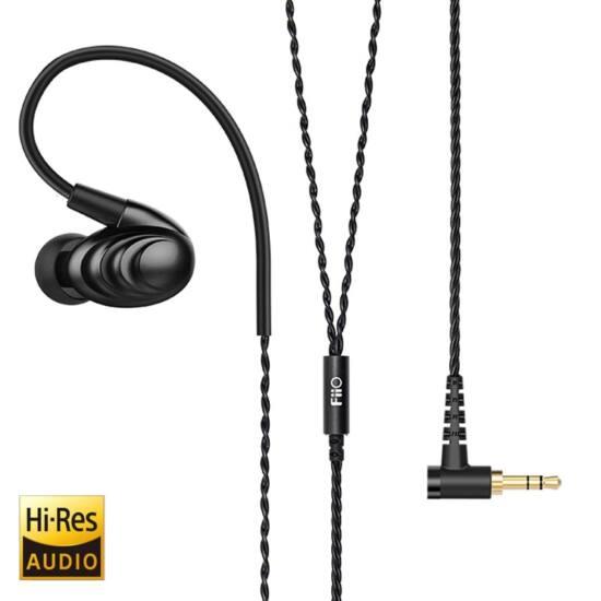 FiiO F9SE IEM fülhallgató mikrofonos távirányítóval, fekete