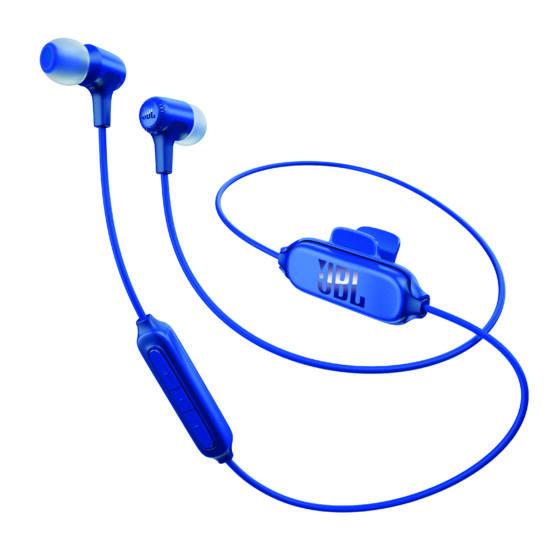 JBL E25 BT Bluetooth fülhallgató, kék Bolti bemutató darab