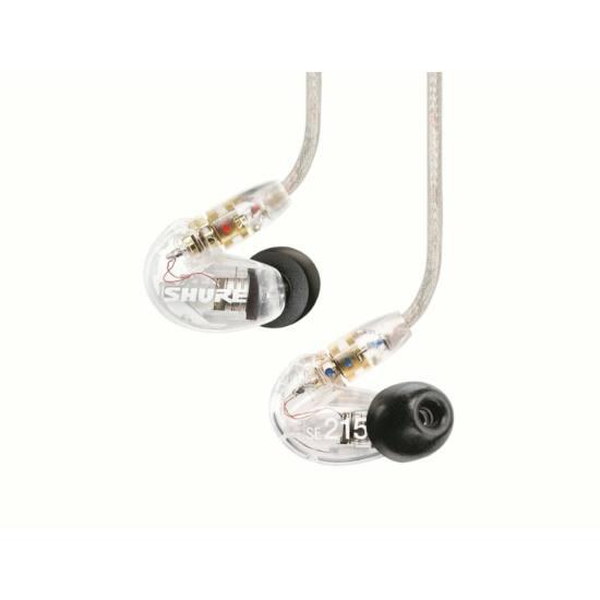 Shure SE215-CL UNI Sound Isolating fülhallgató, átlátszó