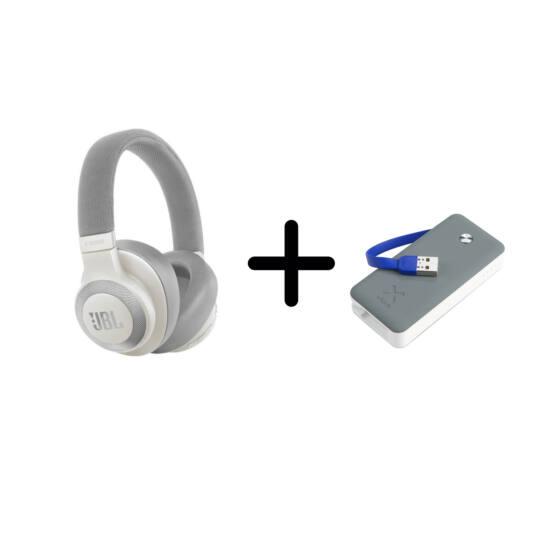 JBL E65 BT NC aktív zajszűréses fejhallgató, fehér + ajándék Xtorm Powerbank Air 6000