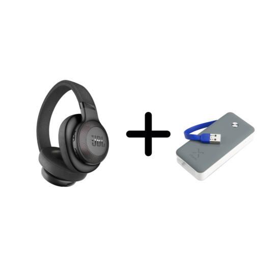 JBL E65 BT NC aktív zajszűréses fejhallgató, fekete + ajándék Xtorm Powerbank Air 6000