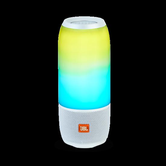 JBL Pulse 3 vízálló, Bluetooth hangszóró, fehér