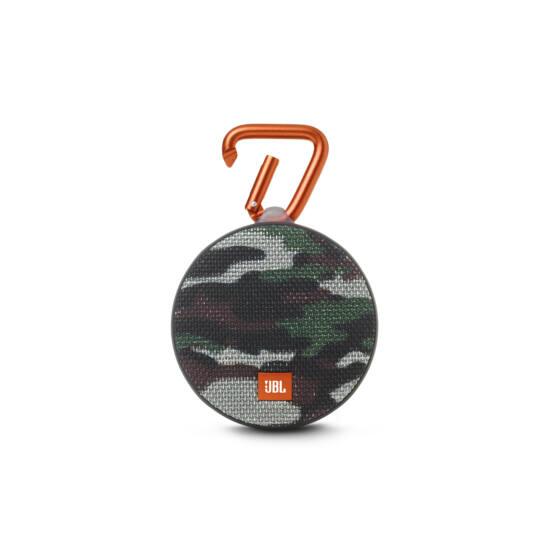 JBL Clip 2 vízálló, Bluetooth hangszóró squad (Bolti bemutató darab)