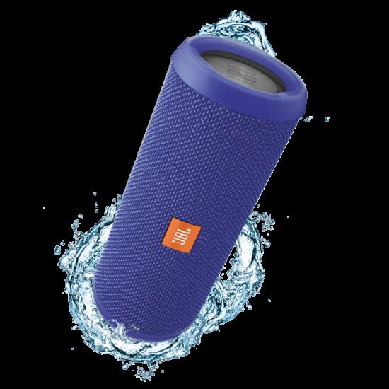 JBL Flip 3 vízálló bluetooth hangszóró, kék (Bolti bemutató darab)
