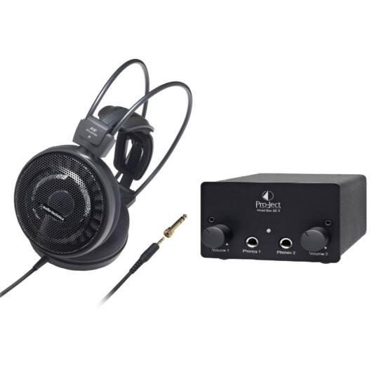 Audio-Technica ATH-AD700X fejhallgató + Pro-Ject Head box SE II