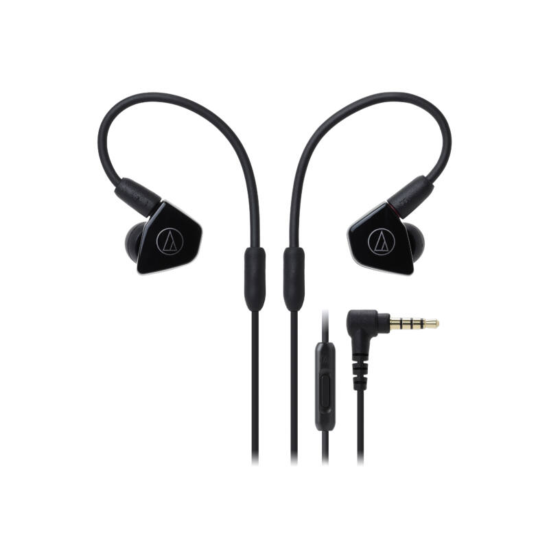 Audio-technica ATH-LS50iSBK Live-Sound fülhallgató, fekete