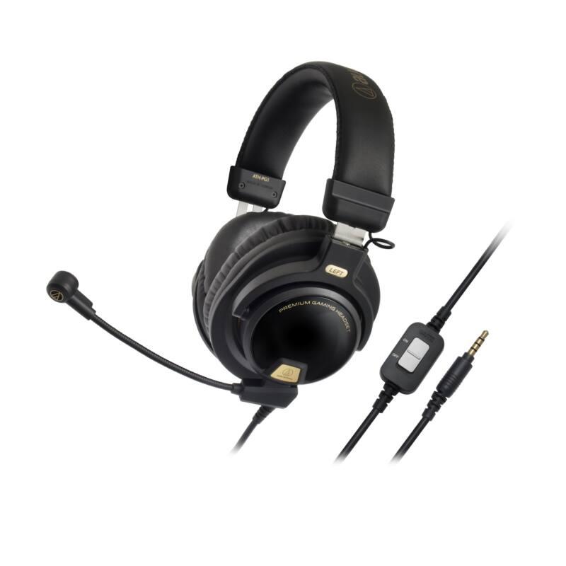 Audio-Technica ATH-PG1 Premium Gamer Fejhallgató , fekete