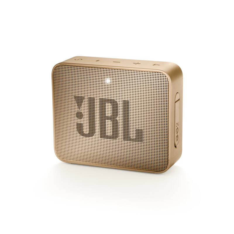 JBL GO 2  hordozható bluetooth hangszóró (Pearl Champagne), pezsgő