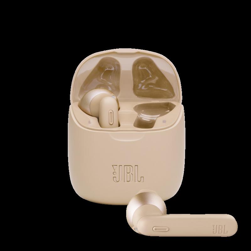 JBL TUNE 225TWS True Wireless fülhallgató, arany + JBL szövetmaszk
