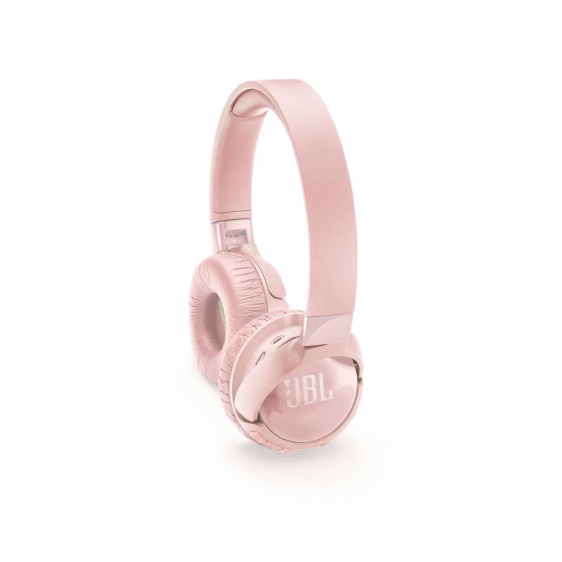 JBL T600BTNC bluetooth-os, zajszűrős fejhallgató, pink (Bemutató darab)