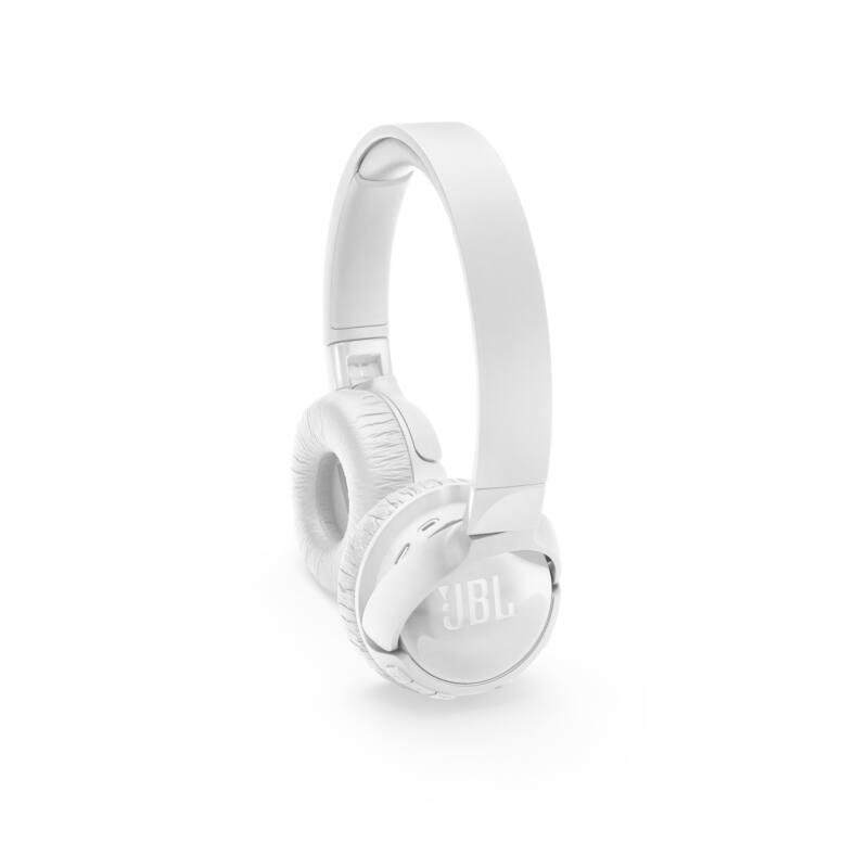 JBL T600BTNC bluetooth-os, zajszűrős fejhallgató, fehér (Bemutató darab)