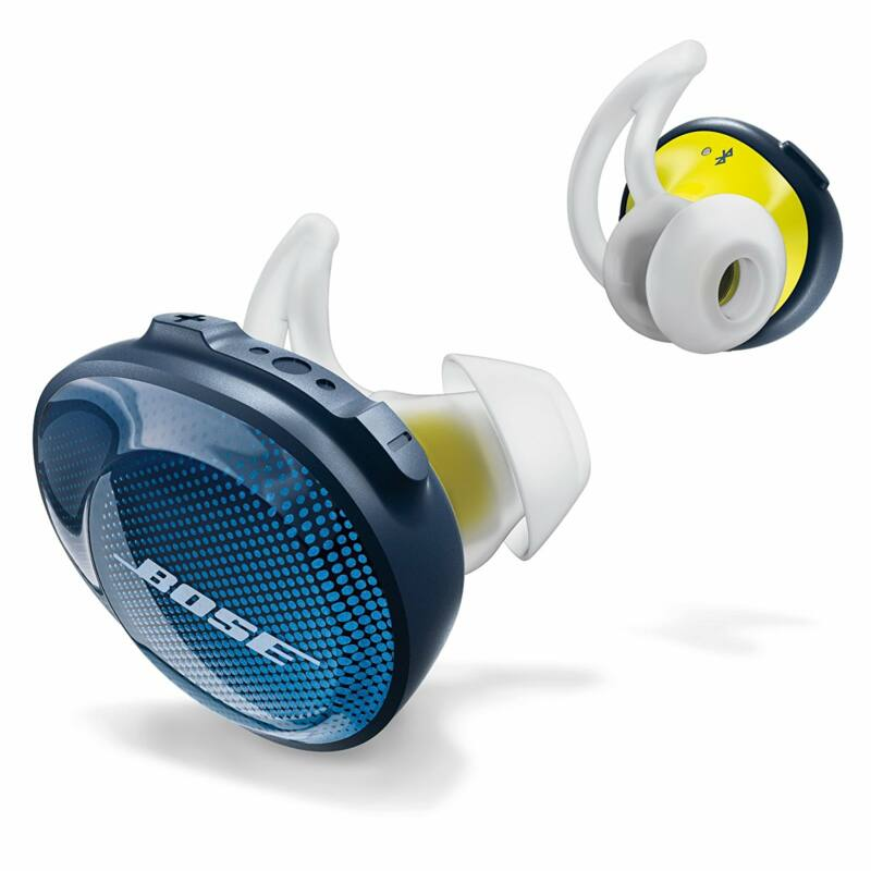 Bose SoundSport Free wireless fülhallgató kék/citromsárga (Bemutató darab)